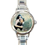New Moon Round Italian Charm Watch