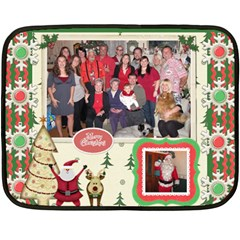 Xmas Blanket By Starla Smith   Double Sided Fleece Blanket (mini)   Qy2qq77lz07z   Www Artscow Com 35 x27 Blanket Front
