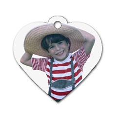 Charms Hat By Chris   Dog Tag Heart (two Sides)   Djvaq5qnebsw   Www Artscow Com Front