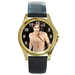 66 Round Gold Metal Watch