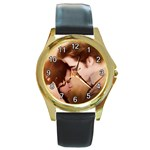 65 Round Gold Metal Watch