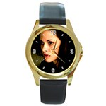 64 Round Gold Metal Watch