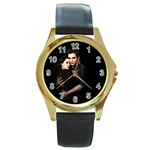 60 Round Gold Metal Watch
