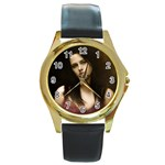 59 Round Gold Metal Watch