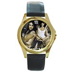 56 Round Gold Metal Watch