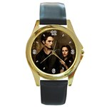 48 Round Gold Metal Watch
