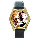 43 Round Gold Metal Watch