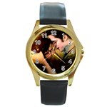 41 Round Gold Metal Watch