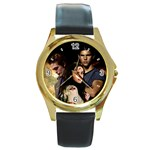 37 Round Gold Metal Watch