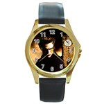 34 Round Gold Metal Watch