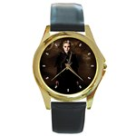 27 Round Gold Metal Watch