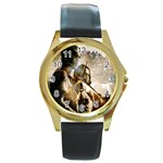 22 Round Gold Metal Watch