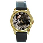 30 Round Gold Metal Watch