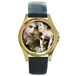 19 Round Gold Metal Watch