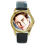 16 Round Gold Metal Watch