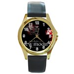 13 Round Gold Metal Watch