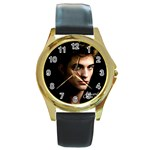 10 Round Gold Metal Watch