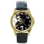 11 Round Gold Metal Watch