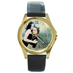 5 Round Gold Metal Watch