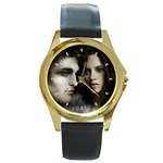 4 Round Gold Metal Watch
