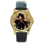 3 Round Gold Metal Watch