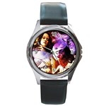 7 Round Metal Watch