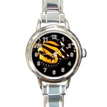 butterfly-pop-art-print-11 Round Italian Charm Watch
