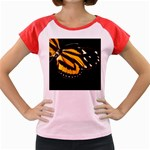 butterfly-pop-art-print-11 Women s Cap Sleeve T-Shirt