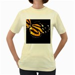 butterfly-pop-art-print-11 Women s Yellow T-Shirt