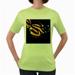 butterfly-pop-art-print-11 Women s Green T-Shirt