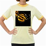 butterfly-pop-art-print-11 Women s Fitted Ringer T-Shirt