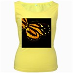 butterfly-pop-art-print-11 Women s Yellow Tank Top
