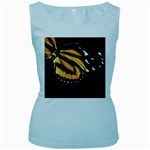 butterfly-pop-art-print-11 Women s Baby Blue Tank Top