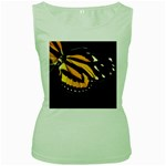 butterfly-pop-art-print-11 Women s Green Tank Top