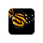 butterfly-pop-art-print-11 Rubber Square Coaster (4 pack)