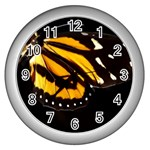 butterfly-pop-art-print-11 Wall Clock (Silver)
