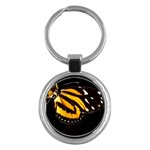 butterfly-pop-art-print-11 Key Chain (Round)