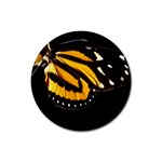 butterfly-pop-art-print-11 Rubber Round Coaster (4 pack)