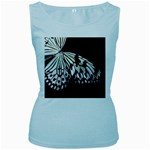 butterfly-pop-art-print-13 Women s Baby Blue Tank Top