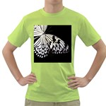 butterfly-pop-art-print-13 Green T-Shirt