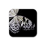 butterfly-pop-art-print-13 Rubber Square Coaster (4 pack)