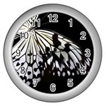 butterfly-pop-art-print-13 Wall Clock (Silver)