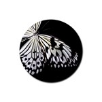 butterfly-pop-art-print-13 Rubber Round Coaster (4 pack)