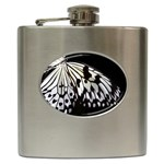 butterfly-pop-art-print-13 Hip Flask (6 oz)