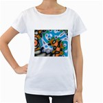 Color_Magma-559871 Maternity White T-Shirt