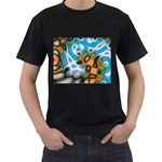 Color_Magma-559871 Black T-Shirt (Two Sides)