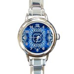 bluerings-185954 Round Italian Charm Watch