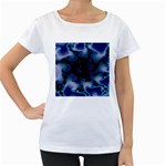 blue%20design%20wave%202-662985 Maternity White T-Shirt