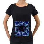 blue%20design%20wave%202-662985 Maternity Black T-Shirt