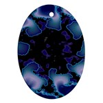 blue%20design%20wave%202-662985 Oval Ornament (Two Sides)